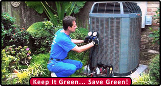 Air Conditioning Service - Keep It Green... Save Green!